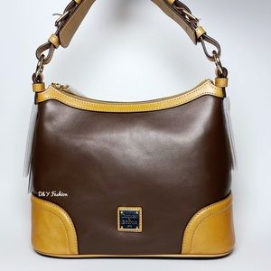 DOONEY AND BOURKE WEXFORD LEATHER HOBO BAG